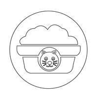 Haustier Katzenfutter Symbol