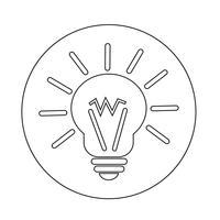 ljus idéikon