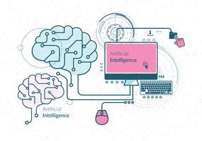 Künstliche Intelligenz-Vektor vektor