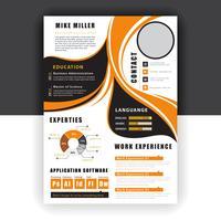 orange curriculum vitae vektor