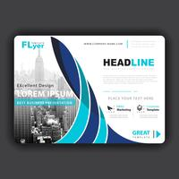 professionell företags horisontell flygblad vektor
