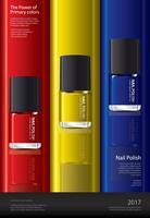 Nagellack-Plakat-Design-Schablonen-Vektor-Illustration