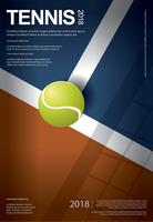 Tennis-Meisterschafts-Plakat-Vektorillustration vektor