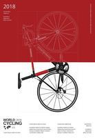 Cykla affisch vektor illustration