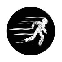 Zeichen des laufenden Symbols vektor