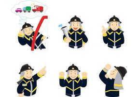 Ausdrucksvoller Feuerwehrmann Vector Pack