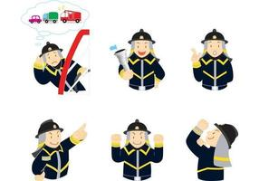 Expressiv Fireman Vector Pack