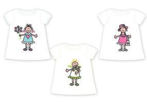 Kinder T-Shirt Vector Pack
