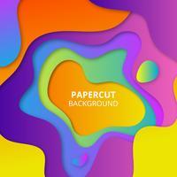 Bunter Papierschnitthintergrund