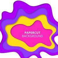 Färgrik pappersskuren bakgrund