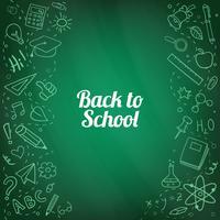 Zurück zu Schule kritzelt von Hand gezeichneter Hintergrund vektor