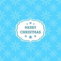 Blå julbakgrund med snöflingor