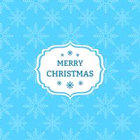 Blauer Weihnachtshintergrund mit Schneeflocken