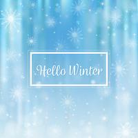 Hej vinter suddig bakgrund. Jul Snowflakes suddig bakgrund