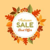 Herbstlaubverkaufsrahmen