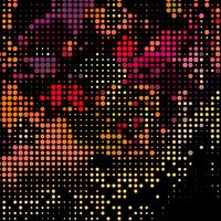 Färgglada prickar på svart bakgrund