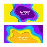 Bunte Papierschnittfahnen