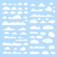 Wolken Vektor festgelegt