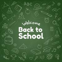 Zurück zu Schule kritzelt von Hand gezeichneter Hintergrund