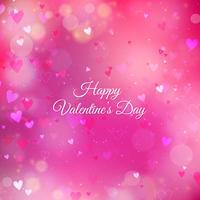 Alla hjärtans dag bakgrund med hjärtan och bokeh