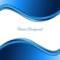 Blå vågor bakgrund. Abstrakt blå våg bakgrund Blå våg affärsmall