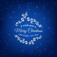 Blå julbakgrund