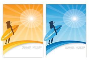 surfa sommar tapet vektor pack