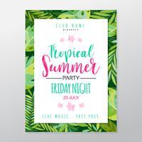 Tropisches Partyplakat des Sommers vektor