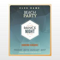 Geometrisches Retro- Partyplakat