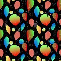 Färgglada abstrakta moderna blad, sömlösa mönster