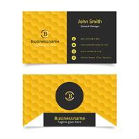 Gelbe Bienenwaben-Visitenkarte vektor