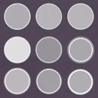 Vektor dekorativa spetsar ramar. Doily mallar för logo