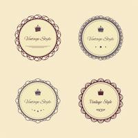 Vintage Labels gesetzt vektor