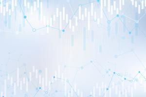 Stearinljusdiagram över aktiemarknadsinvesteringar, Bullish-punkt, Bearish-punkt. trend av grafvektor design. vektor