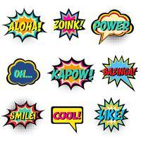 Comic-Wörter. Comic Sprechblase gesetzt vektor