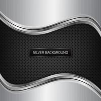 Silber metallic Hintergrund. Silberner metallischer Hintergrund auf schwarzer Faserbeschaffenheit