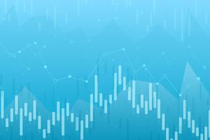 Stearinljusdiagram över aktiemarknadsinvesteringar, Bullish-punkt, Bearish-punkt. trend av grafvektor design.