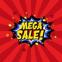 Comic-Buch Mega Sale Hintergrund