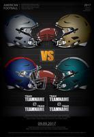 Amerikansk fotboll affisch vektor illustration