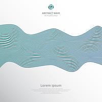 Abstrakte blaue Linien Wellenmuster auf weißem Hintergrund.