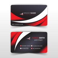 rött och vitt vågigt visitkort