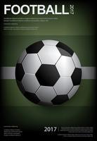 Fotbollfotbollsaffisch Vestor Illustration vektor