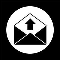 e-post kuvert ikon