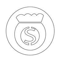 Geldsack-Symbol vektor