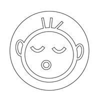 glückliches Kind-Symbol