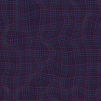 Abstrakte Mehrfarbenlinien Schachbrettmusterwellenkurve auf dunklem Hintergrund. Raue Textur. vektor