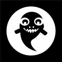 spök Halloween ikon vektor