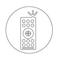 TV-fjärrkontrollikonen vektor