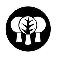 Träd ikon vektor