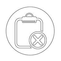 Urklipp ikon vektor